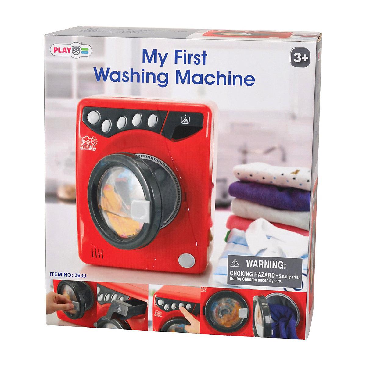 meine erste waschmaschine rot schwarz haushaltsger t playgo mytoys. Black Bedroom Furniture Sets. Home Design Ideas