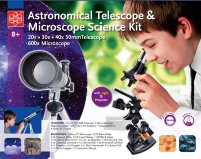 Set Mikroskop 600x + Teleskop