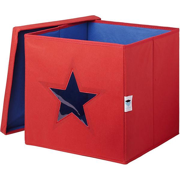 aufbewahrungsbox mit sichtfenster stern rot store it. Black Bedroom Furniture Sets. Home Design Ideas