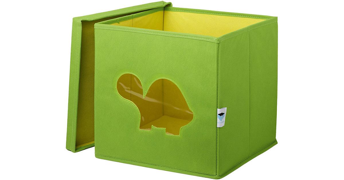 Image of Aufbewahrungsbox Schildkröte, mit Sichtfenster, grün grün/gelb