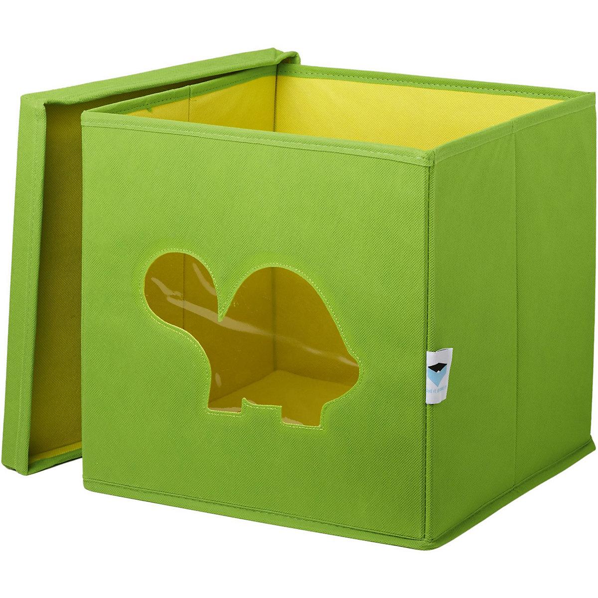 aufbewahrungsbox schildkr te mit sichtfenster gr n. Black Bedroom Furniture Sets. Home Design Ideas