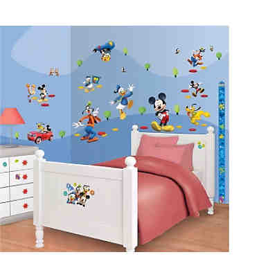 Wandsticker Messlatte Mickey Mouse
