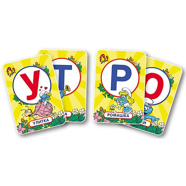 """Развивающие карточки """"Игры с буквами"""", Смурфики"""