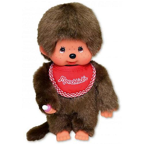 Мягкая игрушка Monchhichi Мончичи, мальчик в красном слюнявчике, 20 см от Monchhichi