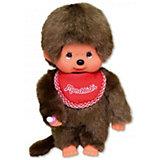 Мягкая игрушка Monchhichi Мончичи, мальчик в красном слюнявчике, 20 см
