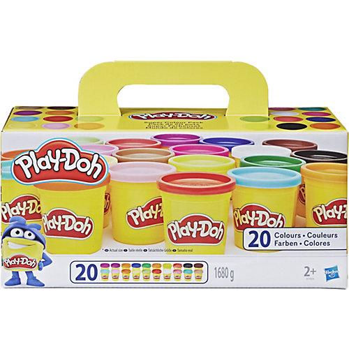 Набор пластилина Play-Doh, 20 баночек от Hasbro