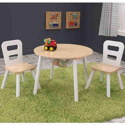 kindersitzgruppe 3 tlg grau wei kidkraft mytoys. Black Bedroom Furniture Sets. Home Design Ideas