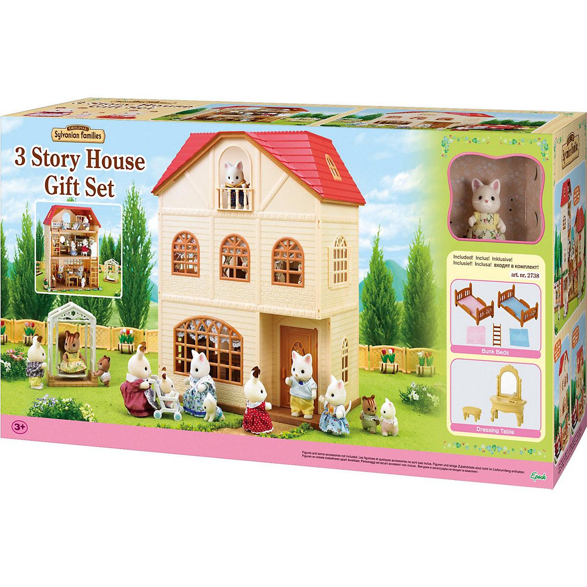 Sylvanian Families Dreistöckiges Haus Geschenkset mit