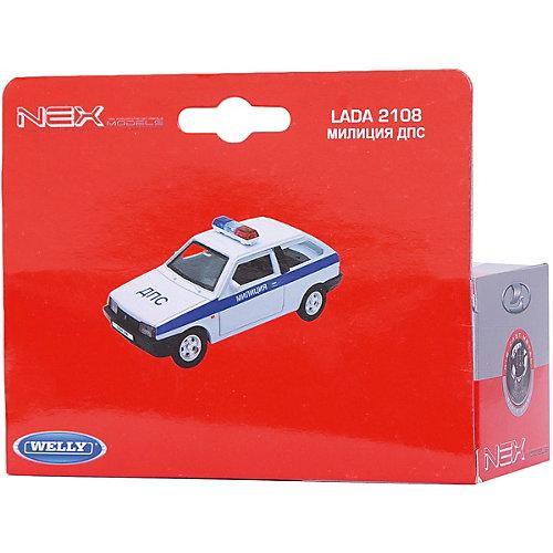 Модель машины 1:34-39 LADA 2108 МИЛИЦИЯ ДПС., Welly от Welly