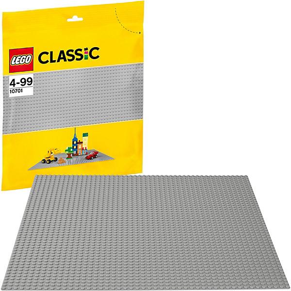 LEGO Classic 10701: Строительная пластина серого цвета
