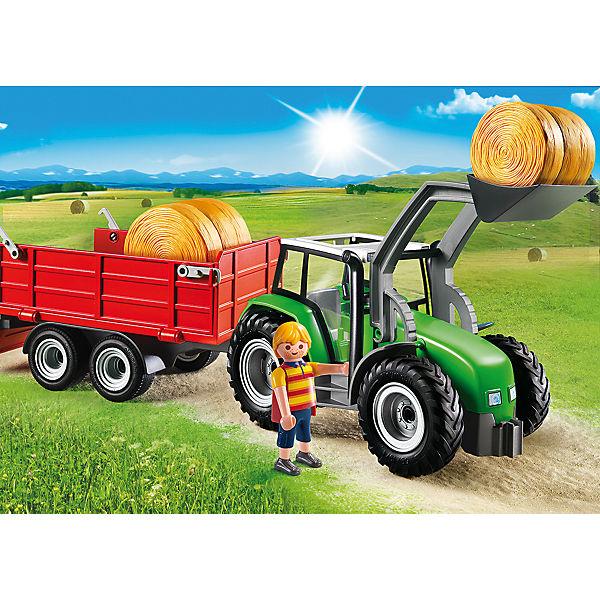 Playmobil großer traktor mit anhänger
