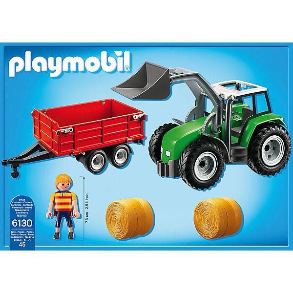 playmobil 6130 gro er traktor mit anh nger playmobil. Black Bedroom Furniture Sets. Home Design Ideas