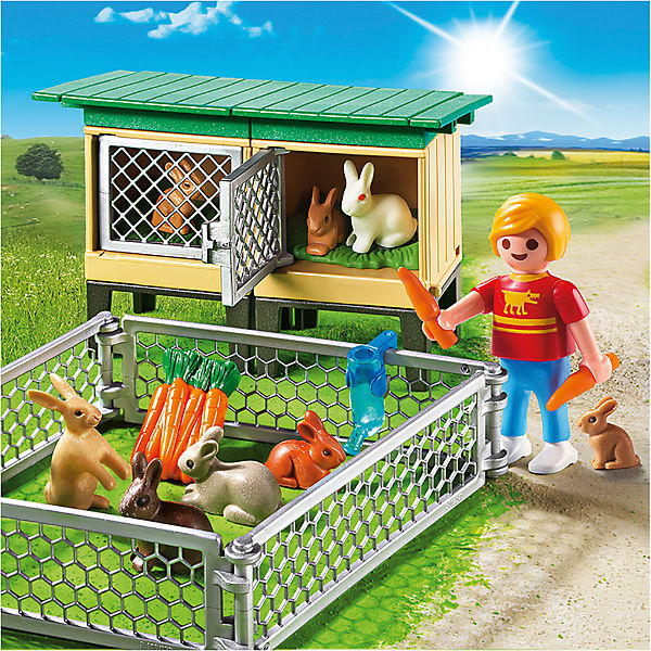 PLAYMOBIL® 6140 Hasenstall Country mit Freigehege, PLAYMOBIL Country Hasenstall 17e1e4