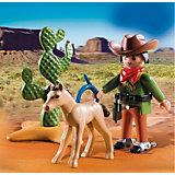 Экстра-набор: Ковбой с жеребенком, PLAYMOBIL