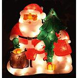 Панно «Новый год»  34х30см, 35 мини ламп