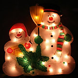 Панно «Снеговик» 36х34см, 35 ламп