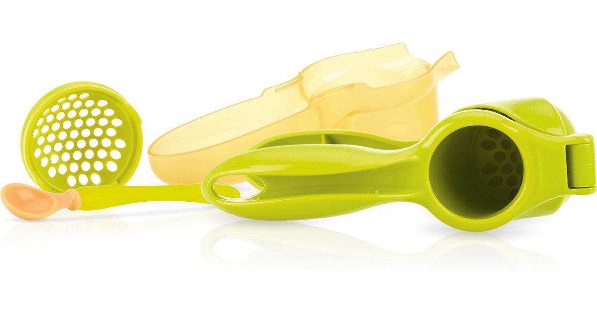 Obst- und Gemüsepresse mit Löffel