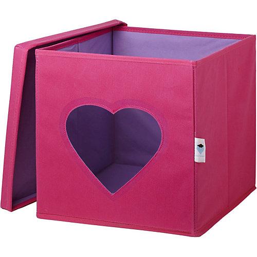 Коробка с крышкой для хранения Store it Сердце - pink/blau от STORE IT!