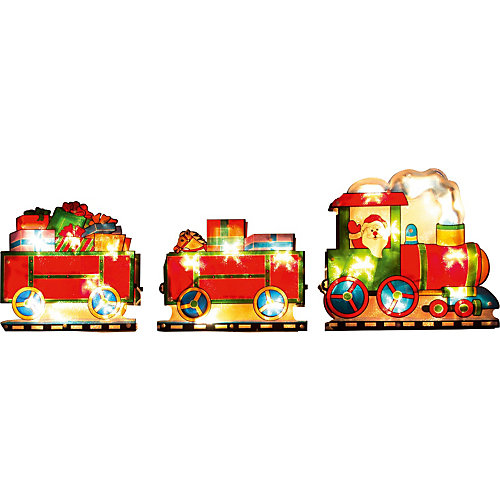 Световое панно «Паровоз с подарками» (20 ламп, 100х22,5 см), Волшебная страна
