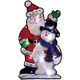 Световое панно «Дед мороз и снеговик» (10 ламп, 25х13,5 см), Волшебная страна