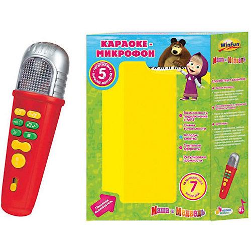 Караоке-микрофон со светом и звуком, Маша и медведь, Умка от Умка