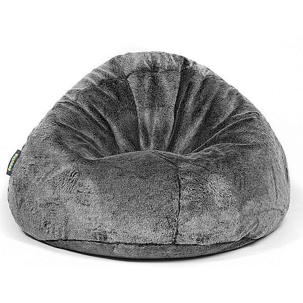 Sitzsack Bag 500 Kunstfell Fur Schwarz Pushbag Mytoys