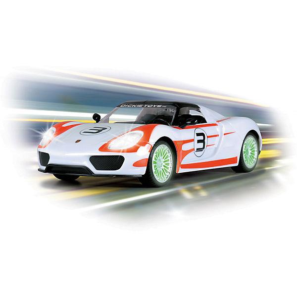 Машинка на р/у Porsche Spyder 1:16, 26см, Dickie