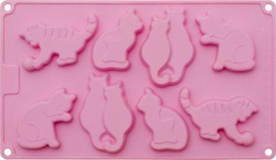 Silikonbackform Schoko- & Keks-Konfekt Katzen