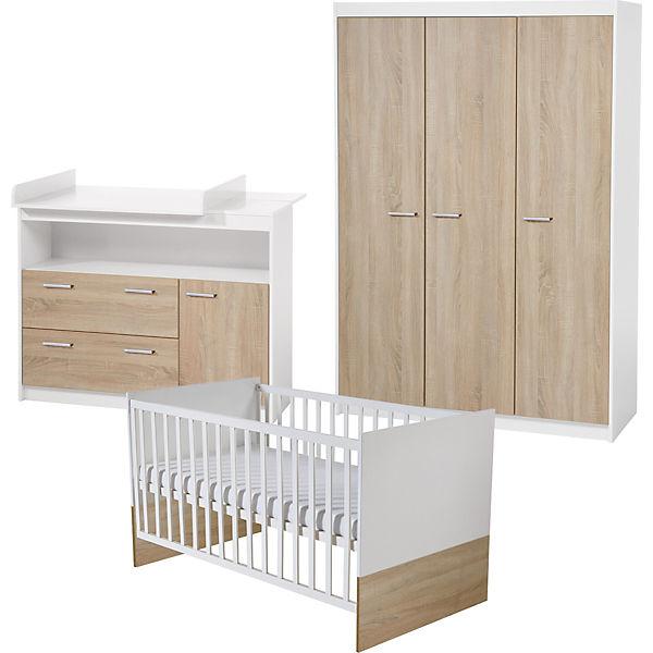 Komplett Kinderzimmer Gabriella 3 Tlg Kinderbett Wickelkommode