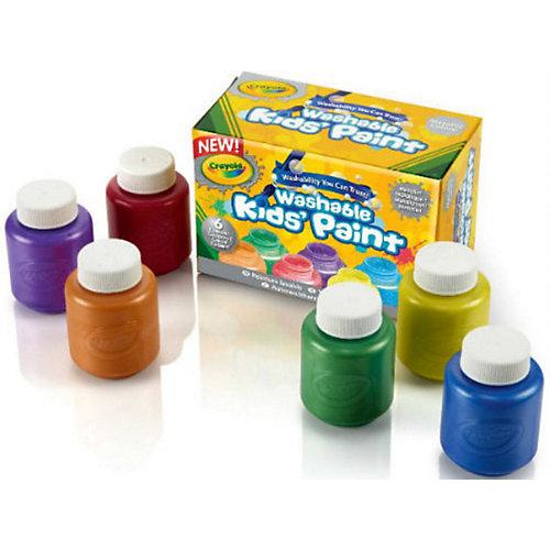 Краски с металлическим эффектом, 6 цветов, Crayola от Crayola