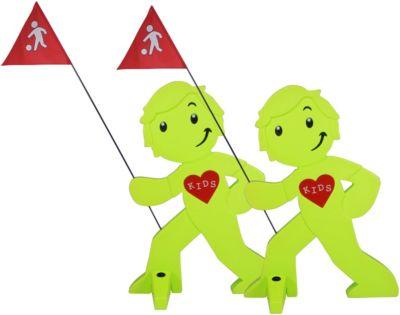 reer 72470 3D-Straßenwarnschild Spielende Kinder