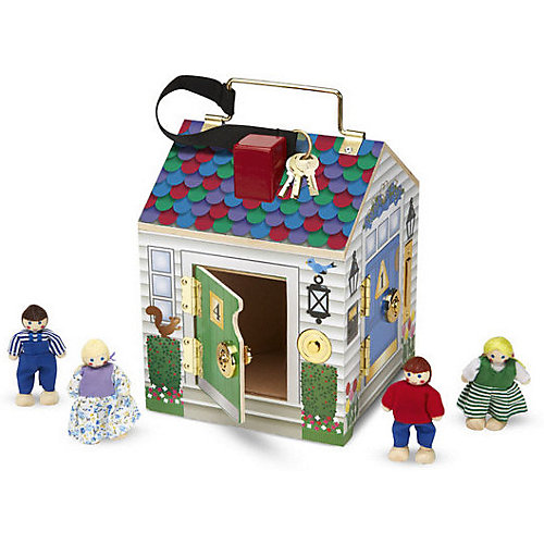 Игровой набор Melissa&Doug «Создай свой мир. Дом с замками», звук от Melissa & Doug