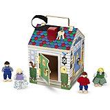 Игровой набор Melissa&Doug «Создай свой мир. Дом с замками», звук