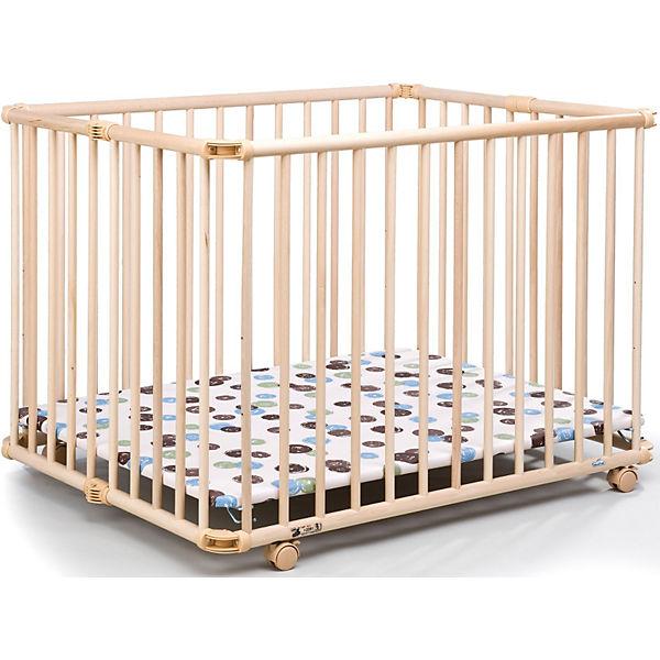 laufgitter lucilee klappbar 80 x 102 cm natur. Black Bedroom Furniture Sets. Home Design Ideas