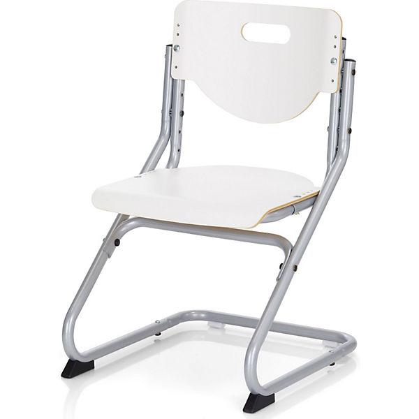 Schreibtischstuhl weiß  Schreibtischstuhl KID's Chair Plus, silberfarbig/weiss, Kettler ...