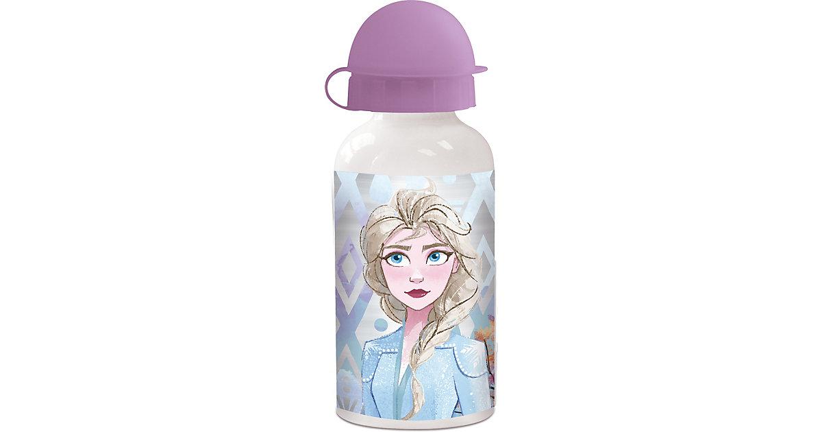 Alu Trinkflasche Die Eiskönigin, 400 ml pink