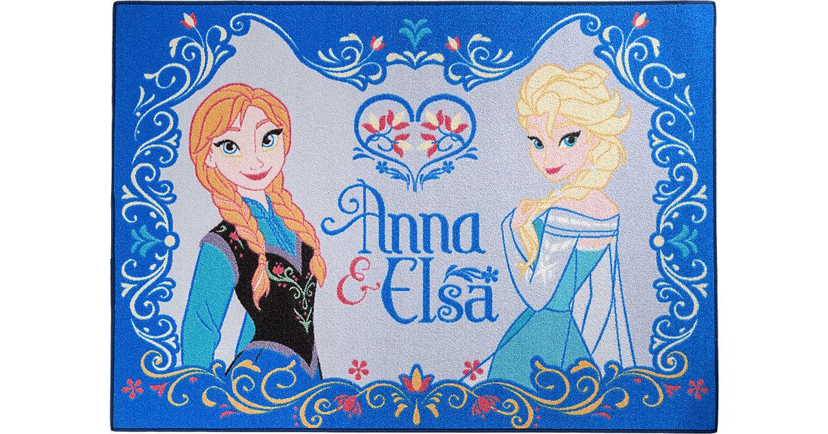 Kinderteppich Die Eiskönigin, Anna und Elsa, 95 x 133 cm