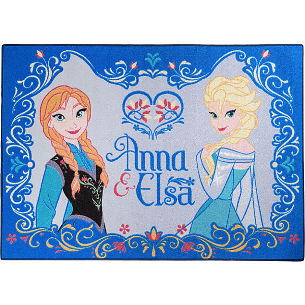 kinderteppich die eisk nigin anna und elsa 95 x 133 cm disney die eisk nigin mytoys. Black Bedroom Furniture Sets. Home Design Ideas