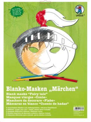 Folia Kinder Masken Set blanko Verzieren Malen Basteln Fasching Party