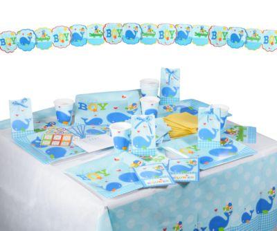 Partyset Ahoy Baby Blue, 54-tlg.