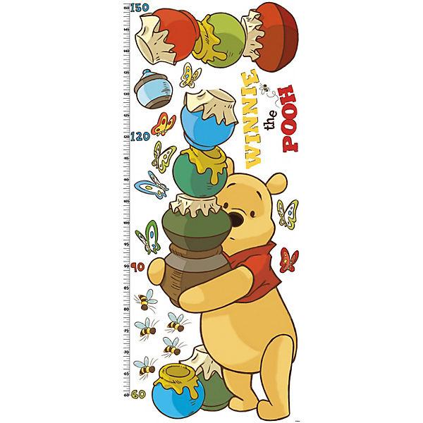 Wandsticker Messlatte, Winnie the Pooh, 17-tlg., Disney Winnie Puuh
