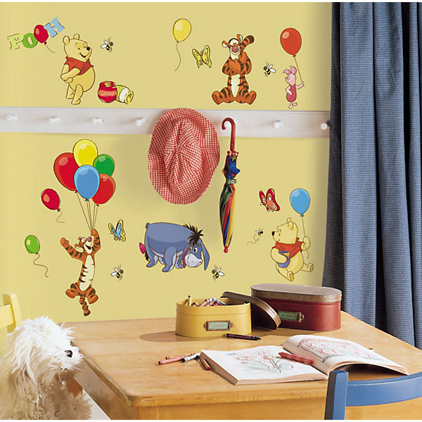 Wandsticker Winnie the Pooh, 38-tlg., Disney Winnie Puuh