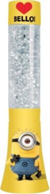 Glitter Lampe Minions, groß