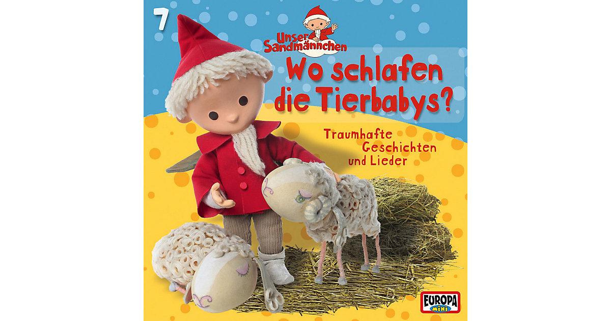 CD Unser Sandmännchen 07 - Wo schlafen die Tierbabys? Hörbuch