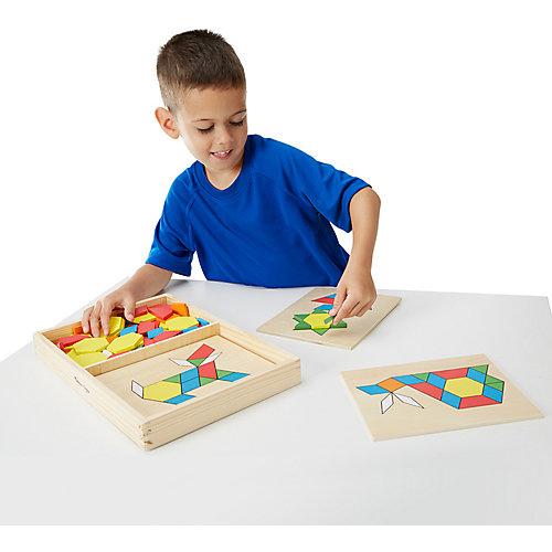 """Мозаика Melissa & Doug """"Первые навыки. Трафарет с блоками на досках"""" от Melissa & Doug"""