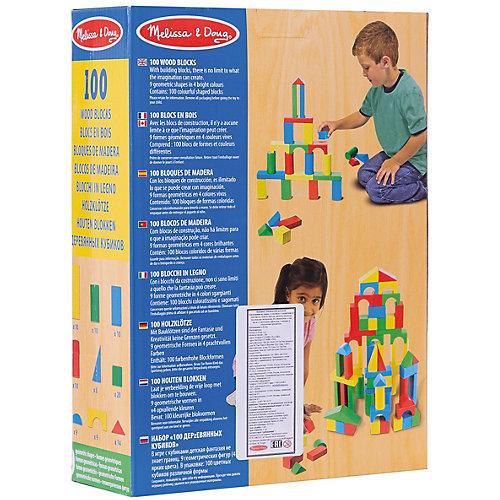 Деревянный конструктор, 100 дет., Melissa & Doug от Melissa & Doug