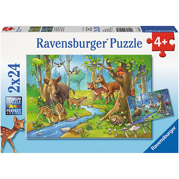 2x24 Teile Tiere des Waldes, Ravensburger