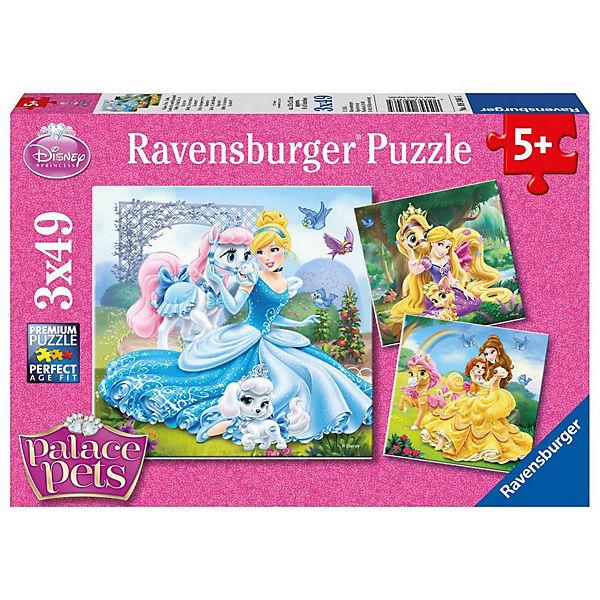 3x49 Teile Disney Palace Pets Belle Cinderella Und Rapunzel