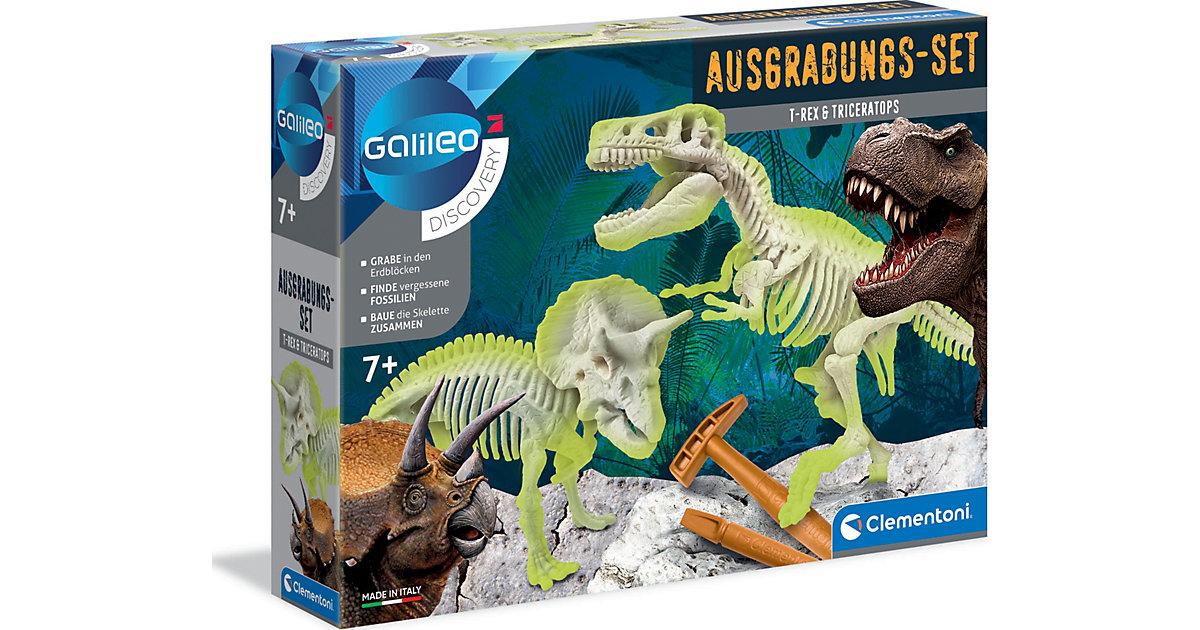 Clementoni · Galileo - Ausgrabungs-Set T-Rex & Triceratops
