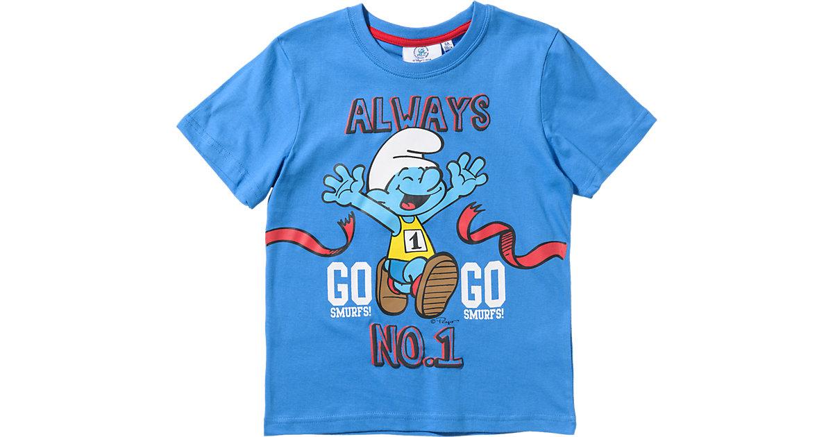SCHLÜMPFE T-Shirt Gr. 128 Jungen Kinder